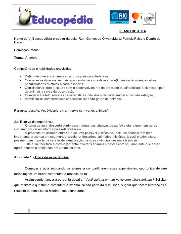 PLANO DE AULANome do(a) Educopedista produtor da aula: Ruth Gomes de OliveiraMarta Patrícia Peixoto Duarte deDecoEducação ...
