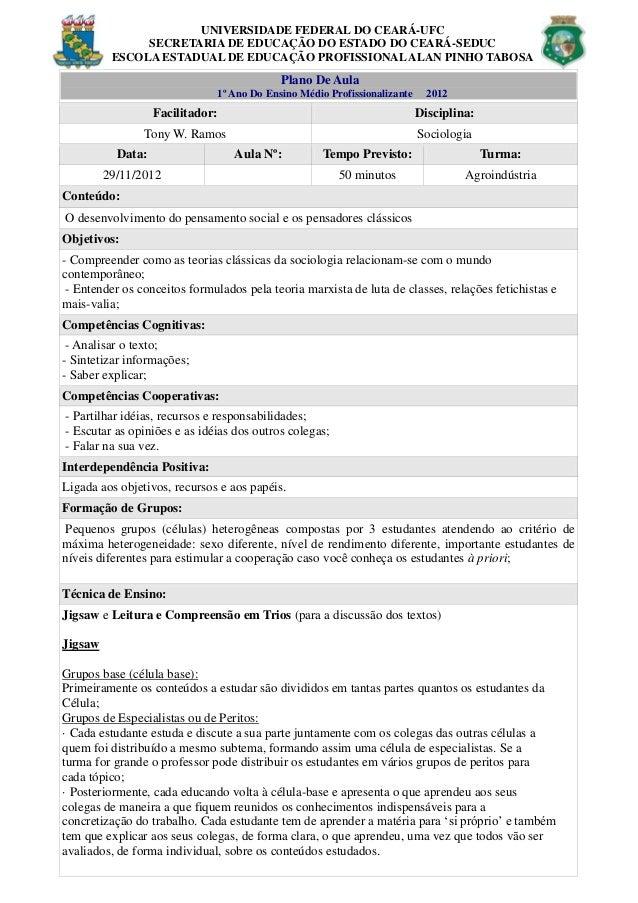 UNIVERSIDADE FEDERAL DO CEARÁ-UFC               SECRETARIA DE EDUCAÇÃO DO ESTADO DO CEARÁ-SEDUC          ESCOLA ESTADUAL D...