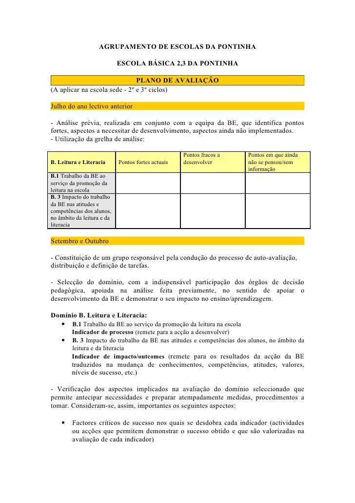 AGRUPAMENTO DE ESCOLAS DA PONTINHA                              ESCOLA BÁSICA 2,3 DA PONTINHA                             ...
