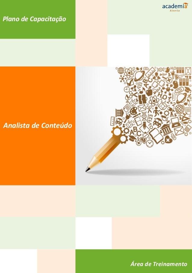 Plano de Capacitação Analista de Conteúdo Área de Treinamento