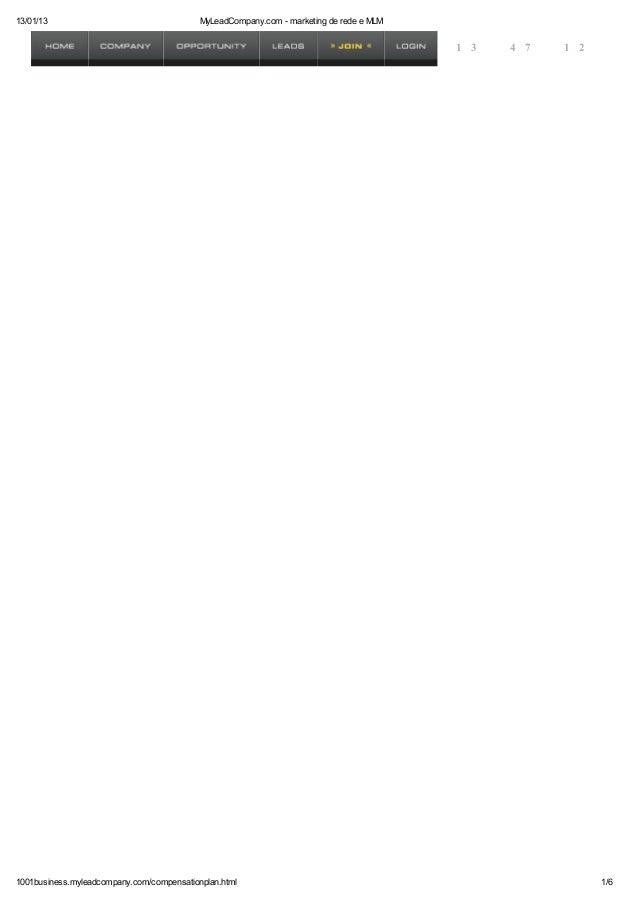 13/01/13                                    MyLeadCompany.com - marketing de rede e MLM                                   ...