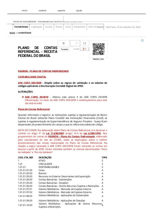 Mobile Link  12  Portal de Contabilidade - Coordenado por Américo Garcia Parada Filho.  0  Tweetar  início :: contabilidad...