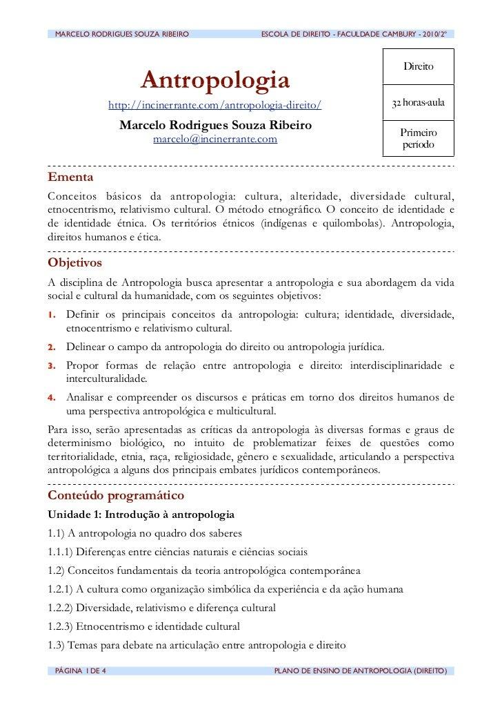 MARCELO RODRIGUES SOUZA RIBEIRO                ESCOLA DE DIREITO - FACULDADE CAMBURY - 2010/2º                          ...