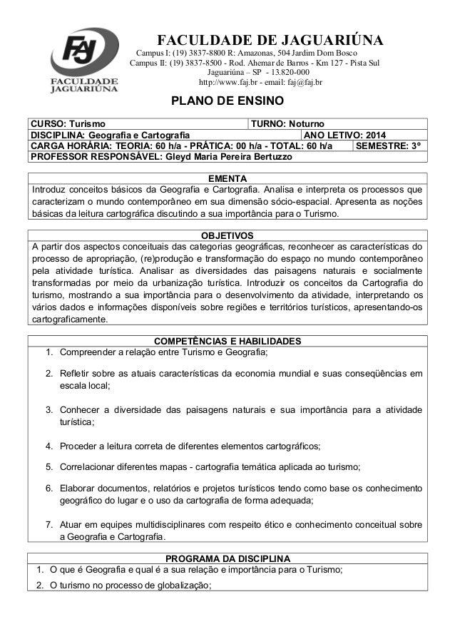 FACULDADE DE JAGUARIÚNA Campus I: (19) 3837-8800 R: Amazonas, 504 Jardim Dom Bosco Campus II: (19) 3837-8500 - Rod. Ahemar...