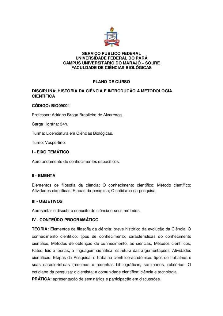 SERVIÇO PÚBLICO FEDERAL                       UNIVERSIDADE FEDERAL DO PARÁ                  CAMPUS UNIVERSITÁRIO DO MARAJÓ...