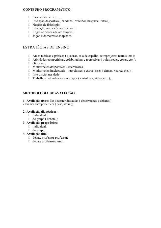 CEC-OBJETIVO - 2004 PLANEJAMENTO ANUAL – ENSINO FUNDAMENTAL II DISCIPLINA : EDUCAÇÃO FÍSICA PROFESSOR : FRANCISCO JÚLIO DE...