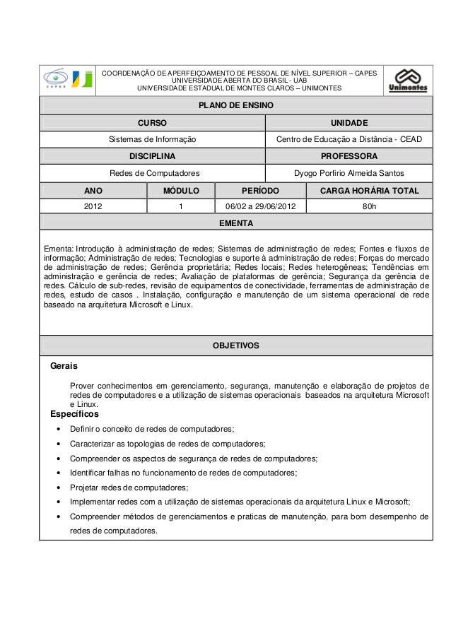 COORDENAÇÃO DE APERFEIÇOAMENTO DE PESSOAL DE NÍVEL SUPERIOR – CAPES                               UNIVERSIDADE ABERTA DO B...