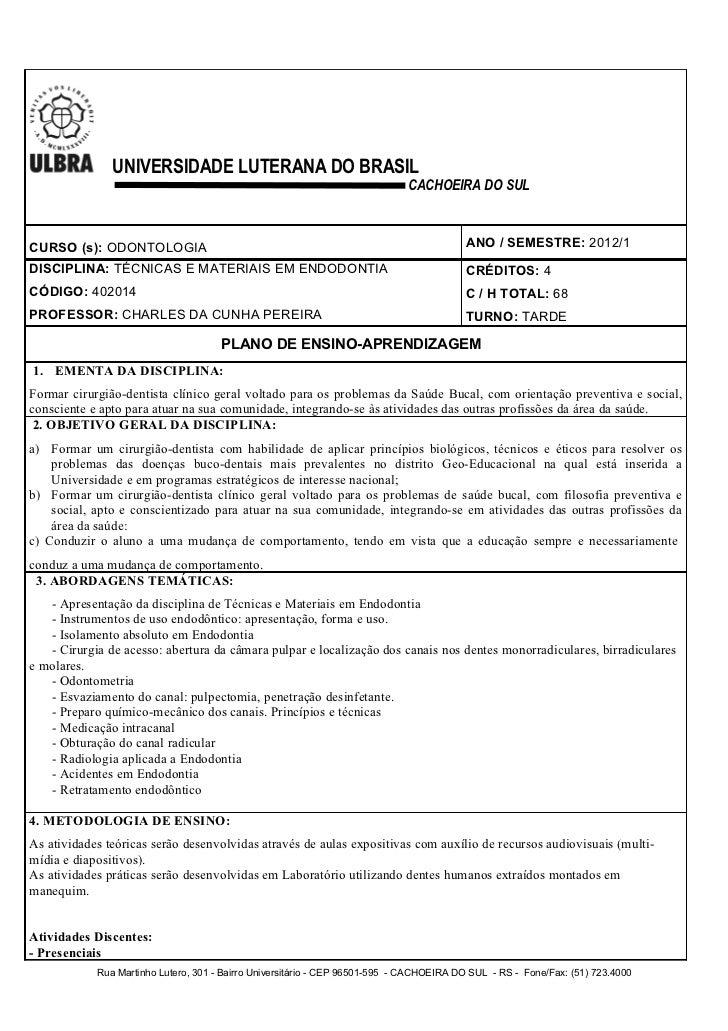 UNIVERSIDADE LUTERANA DO BRASIL                                                                             CACHOEIRA DO S...