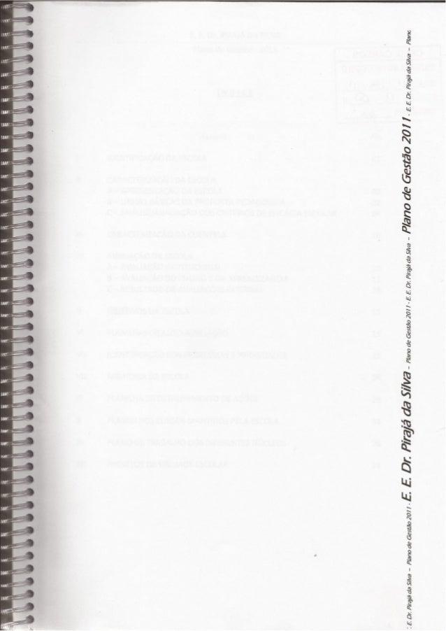 Plano de gestão 2011