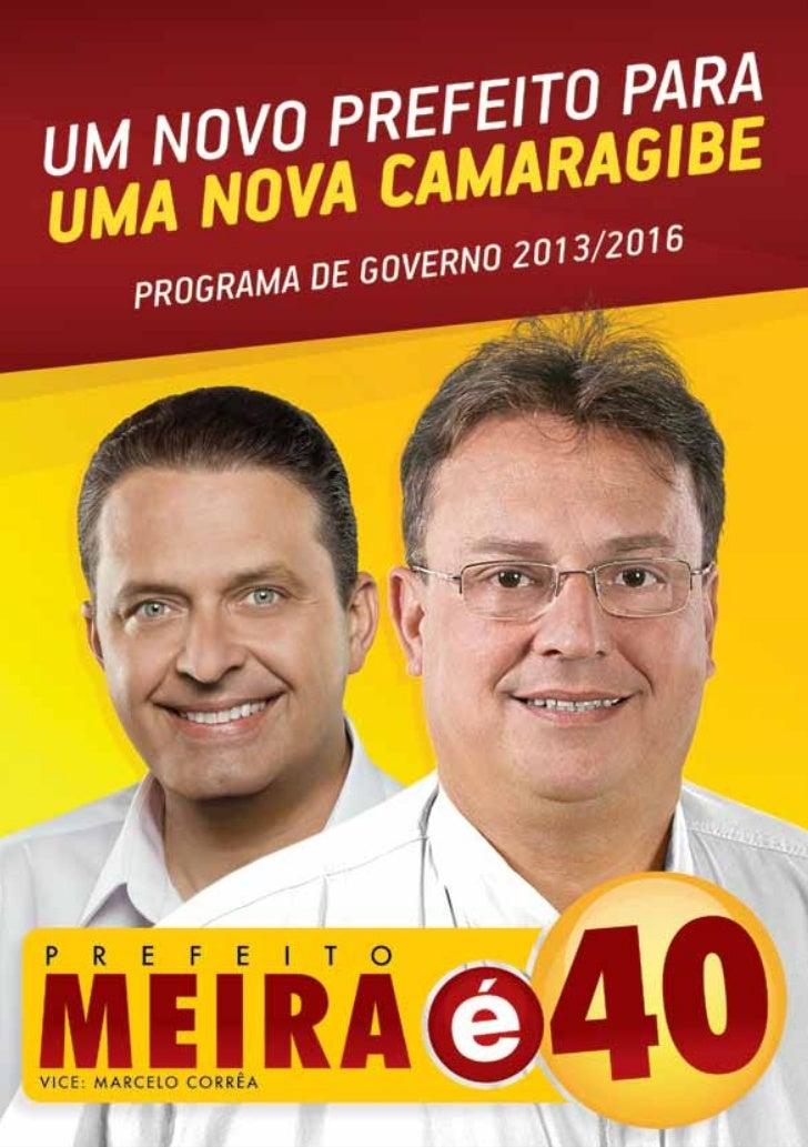 """""""Camaragibe merece ter um papelimportante no atual cenário de                                        APRESENTAÇÃOPernambuc..."""