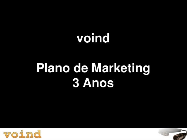 voind Plano de Marketing 3 Anos