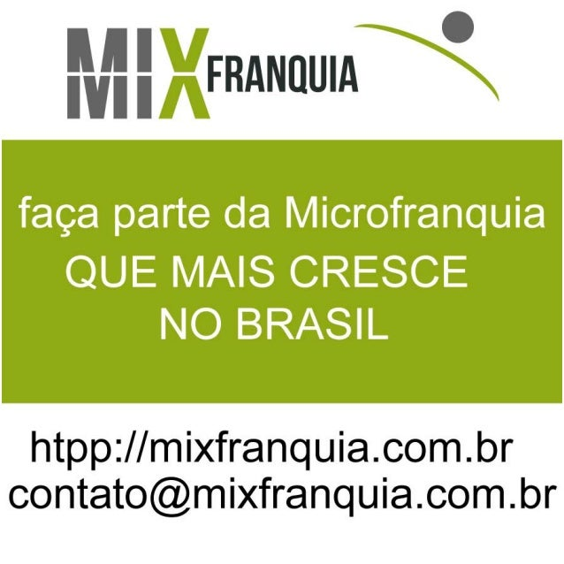 Franquia - Mix Franquia - Plano de Negócio