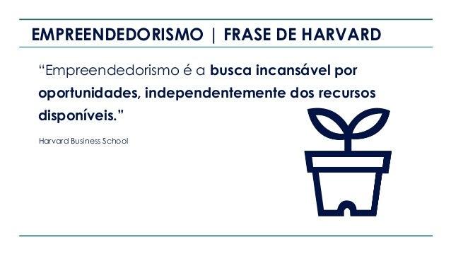 """EMPREENDEDORISMO   FRASE DE HARVARD """"Empreendedorismo é a busca incansável por oportunidades, independentemente dos recurs..."""