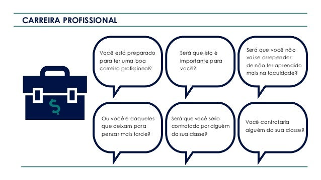 CARREIRA PROFISSIONAL Você está preparado para ter uma boa carreira profissional? Será que isto é importante para você? Se...