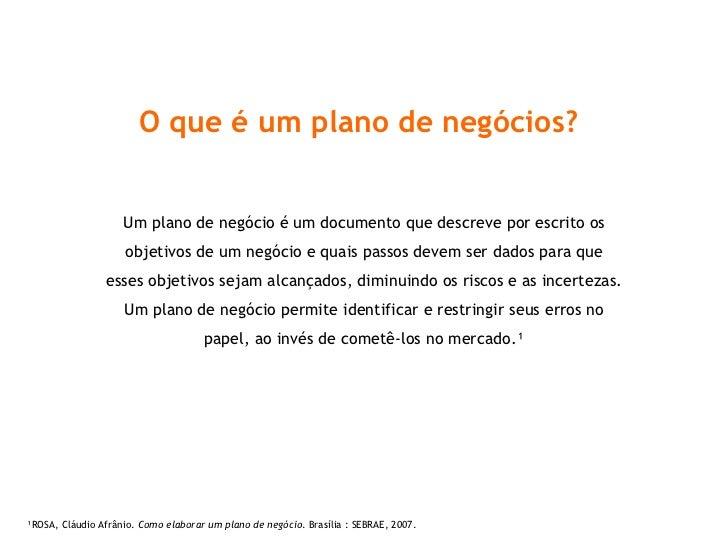 Plano de negócios criativos Slide 2