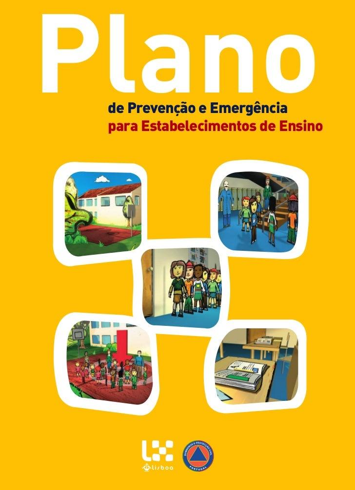 Plano de Prevenção e Emergência para Estabelecimentos de Ensino