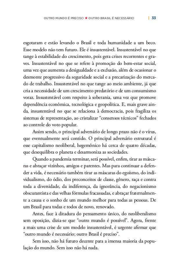 36   PLANO DE RECONSTRUÇÃO E TRANSFORMAÇÃO DO BRASIL O nosso Programa Democrático e Popular se articula do ponto de vista ...
