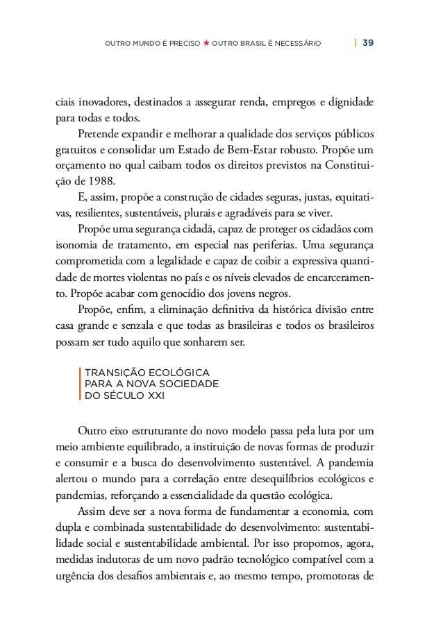 """42   PLANO DE RECONSTRUÇÃO E TRANSFORMAÇÃO DO BRASIL a segurança hídrica e os """"4Rs"""" nos resíduos sólidos (repensar, reduzi..."""