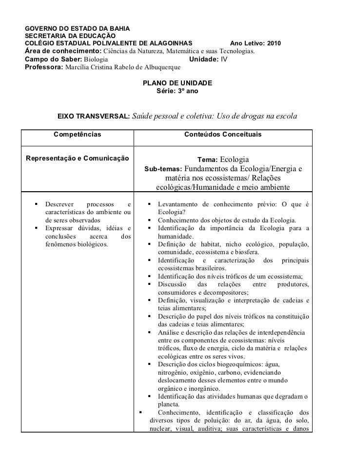GOVERNO DO ESTADO DA BAHIASECRETARIA DA EDUCAÇÃOCOLÉGIO ESTADUAL POLIVALENTE DE ALAGOINHAS                               A...