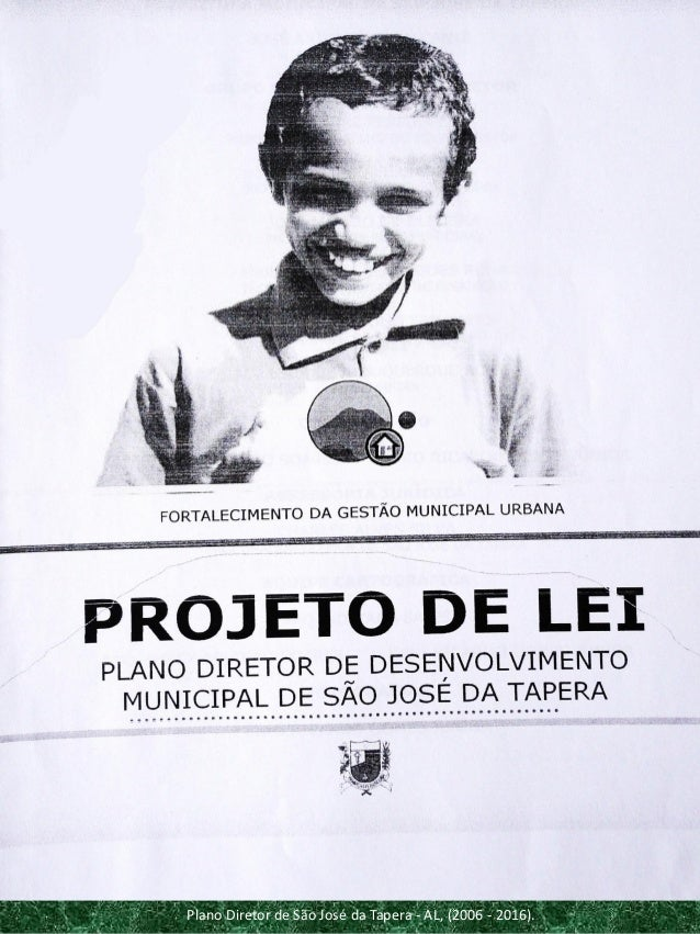 Plano Diretor de São José da Tapera - AL, (2006 - 2016).