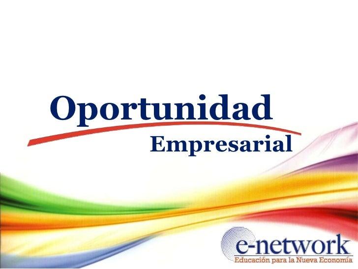 Oportunidad    Empresarial