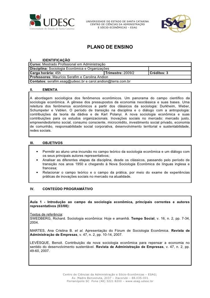 UNIVERSIDADE DO ESTADO DE SANTA CATARINA                                         CENTRO DE CIÊNCIAS DA ADMINISTRAÇÃO      ...