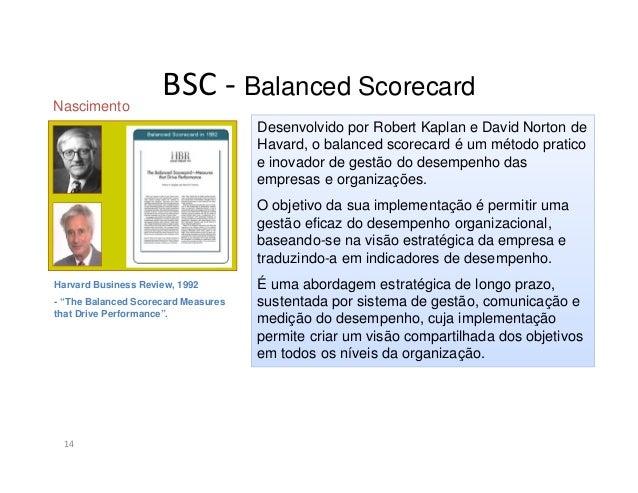 "BSC - Balanced Scorecard15Segundo Norton e Kaplan, o BalancedScorecard é uma ferramenta (ou metodologia)que ""traduz a miss..."