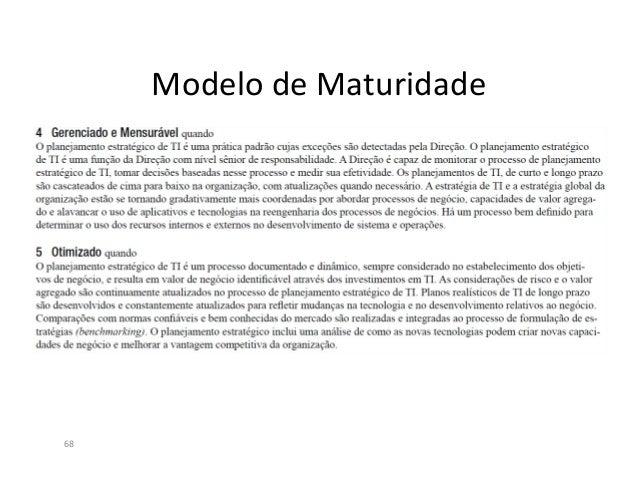 Definição do Processo de PETI X PO170Segundo o ITGI (2005), o planejamento estratégico de TI deve ser incorporando àsgerên...