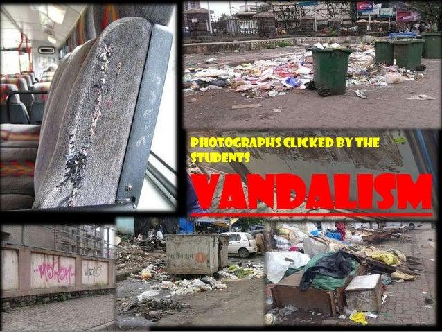 PHOTOGRAPHS clicked by the students VANDALISM