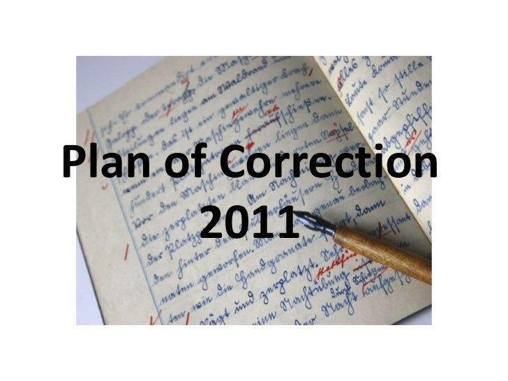 Plan of Correction 2011<br />