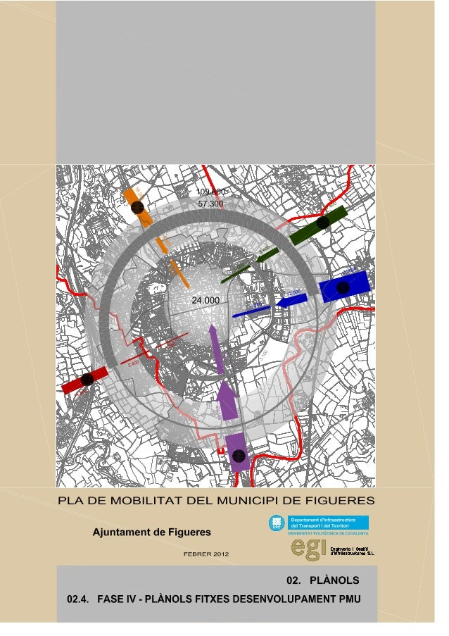 Pla de Mobilitat de Figueres, fase IV - Fitxes