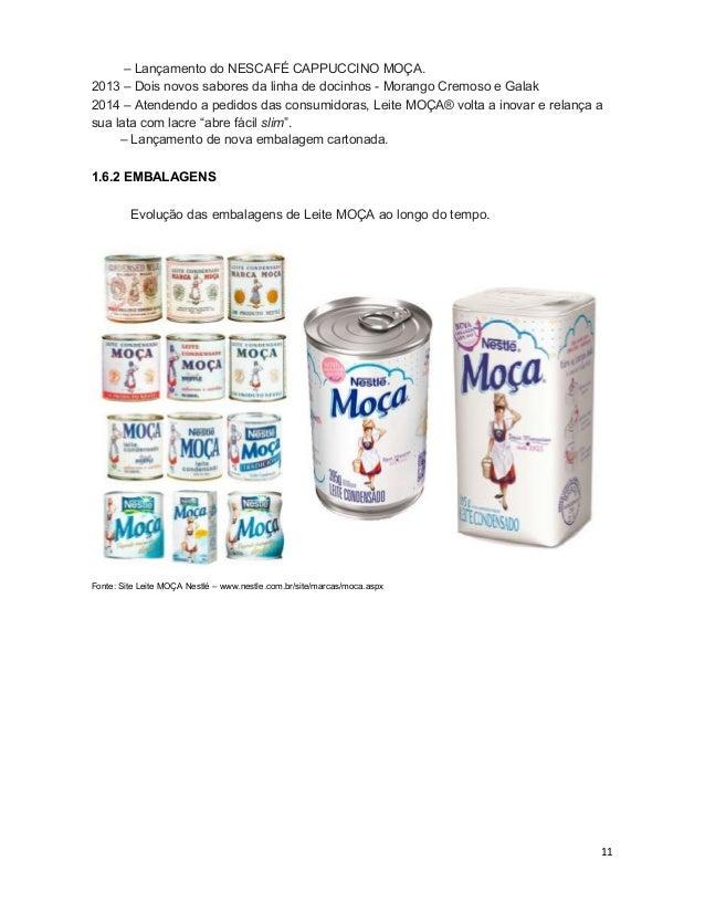11 – Lançamento do NESCAFÉ CAPPUCCINO MOÇA. 2013 – Dois novos sabores da linha de docinhos - Morango Cremoso e Galak 2014 ...