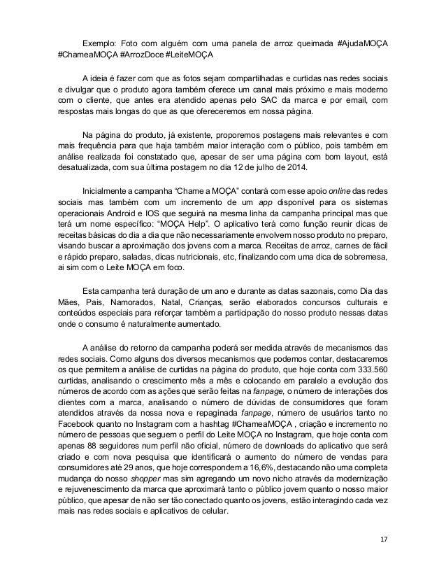 17 Exemplo: Foto com alguém com uma panela de arroz queimada #AjudaMOÇA #ChameaMOÇA #ArrozDoce #LeiteMOÇA A ideia é fazer ...