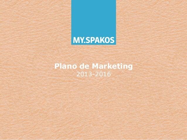 Plano de Marketing 2013-2016