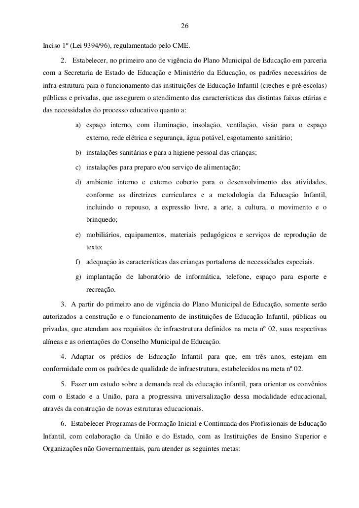 Plano Municipal De Educacao Revisado E Atualizado 081120077 Ii