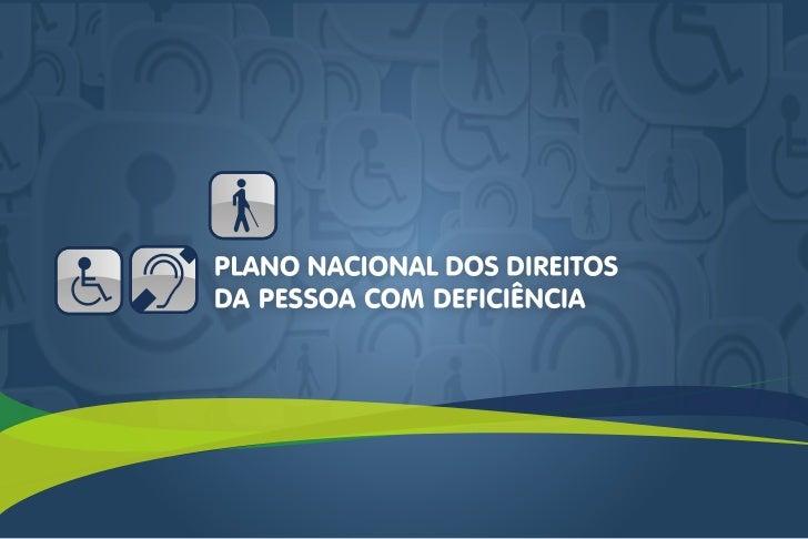 Plano Nacional dos Direitos da Pessoa com Deficiência