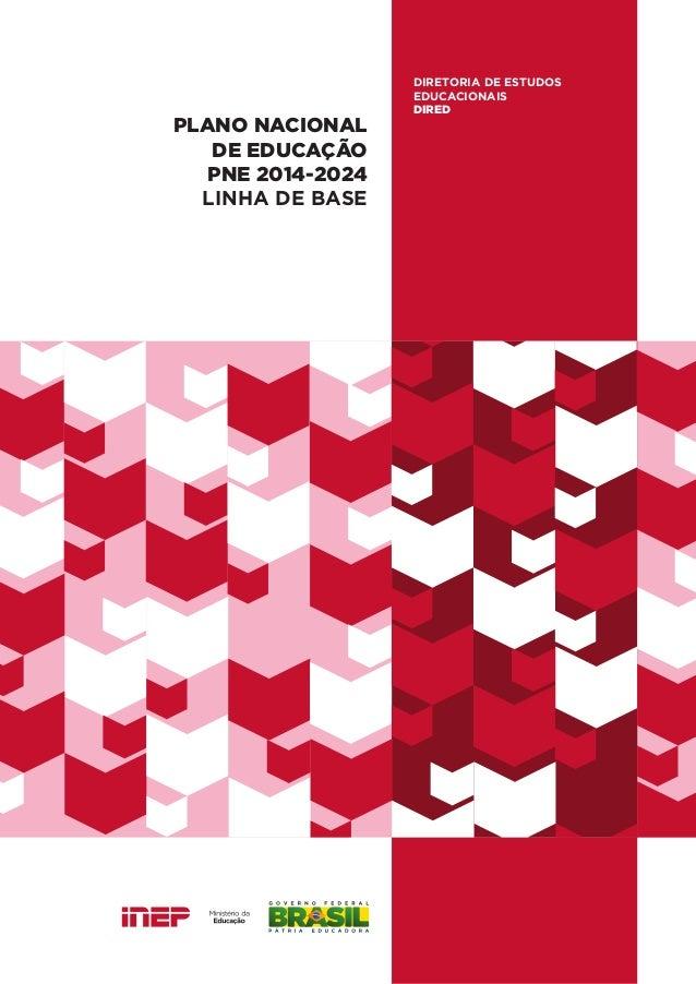 PLANO NACIONAL DE EDUCAÇÃO PNE 2014-2024 LINHA DE BASE DIRETORIA DE ESTUDOS EDUCACIONAIS DIRED