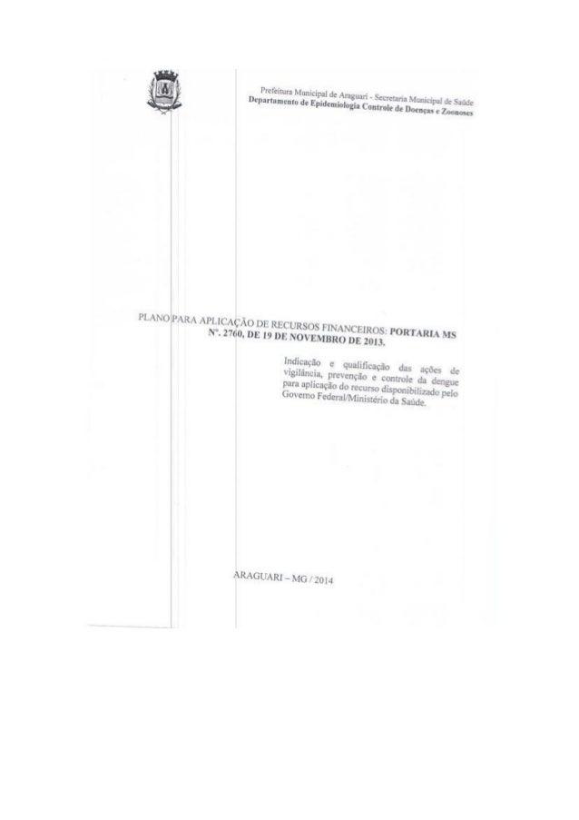 Plano para aplicação de recursos financeiros por ms 2760_19_11_2013