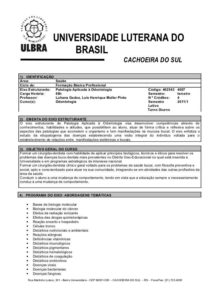 UNIVERSIDADE LUTERANA DO                              BRASIL                                                              ...