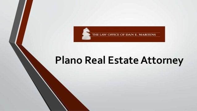 Plano Real Estate Attorney