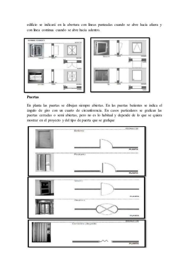 Planos arquitectonicos for Simbologia de puertas en planos arquitectonicos