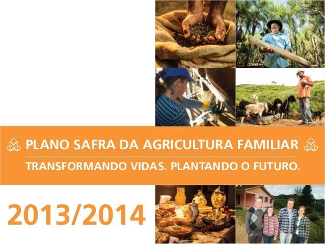 2013/20142013/2014PLANO SAFRA DA AGRICULTURA FAMILIARTRANSFORMANDO VIDAS. PLANTANDO O FUTURO.