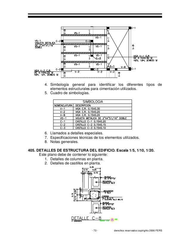Planos arquitect nicos y constructivos for Simbologia de niveles en planos arquitectonicos