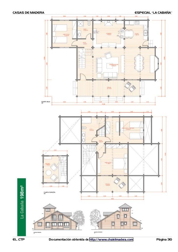 Planos casas madera caba as - Planos casa de madera ...