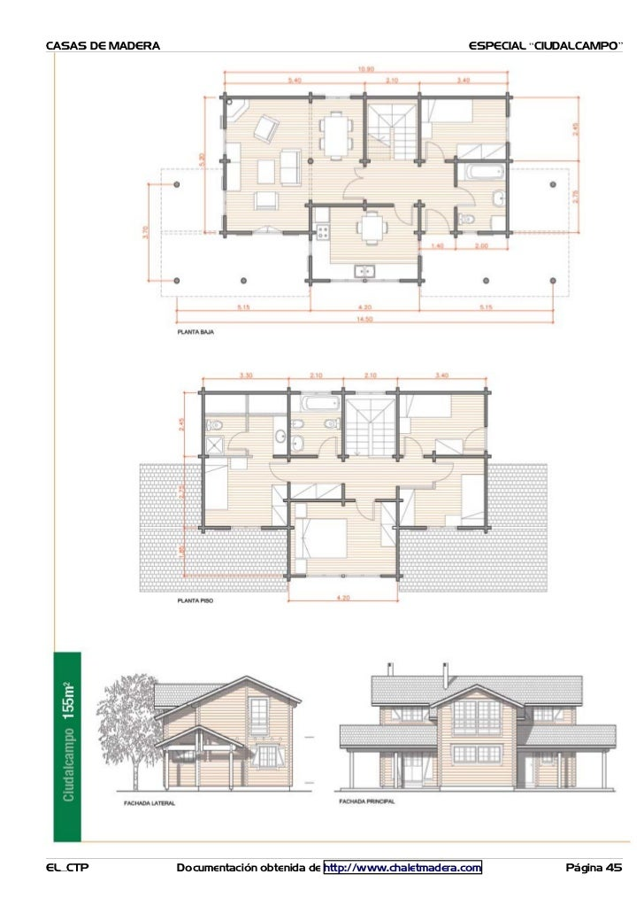 Planos casas madera caba as - Casas de madera planos ...