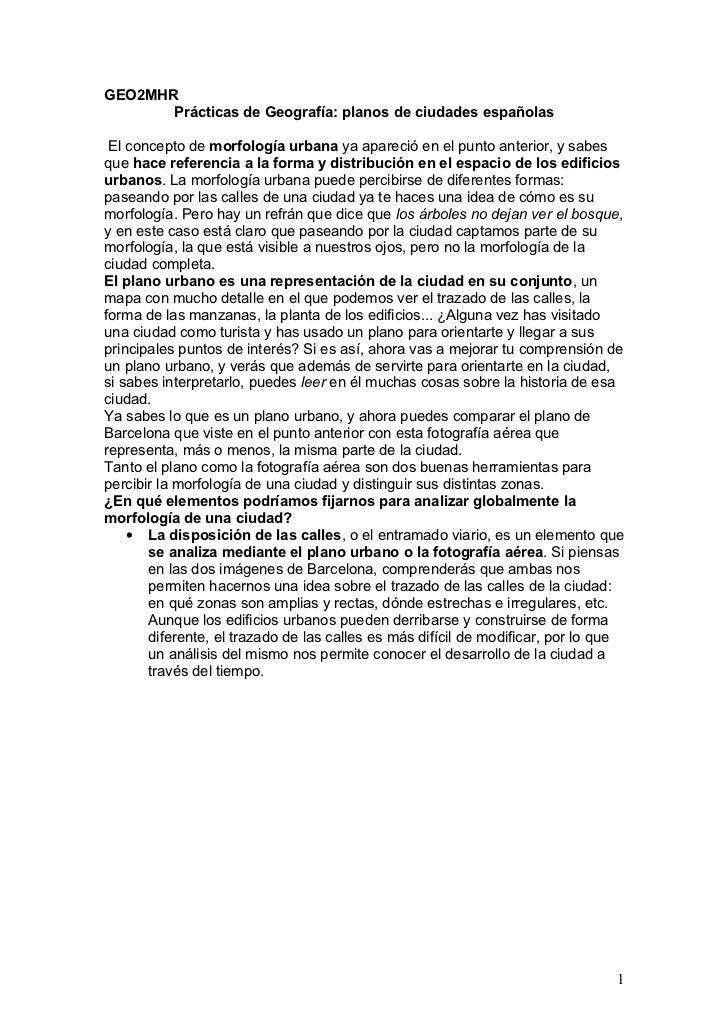 Comentario de planos de ciudades españolas