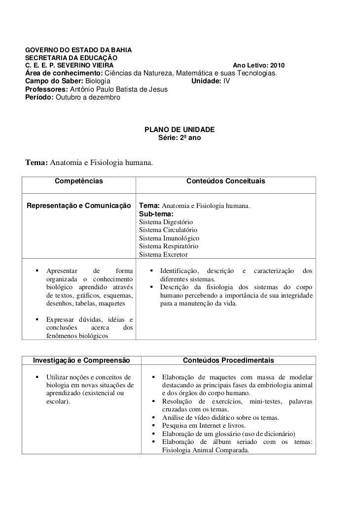 GOVERNO DO ESTADO DA BAHIASECRETARIA DA EDUCAÇÃOC. E. E. P. SEVERINO VIEIRA                                           Ano ...