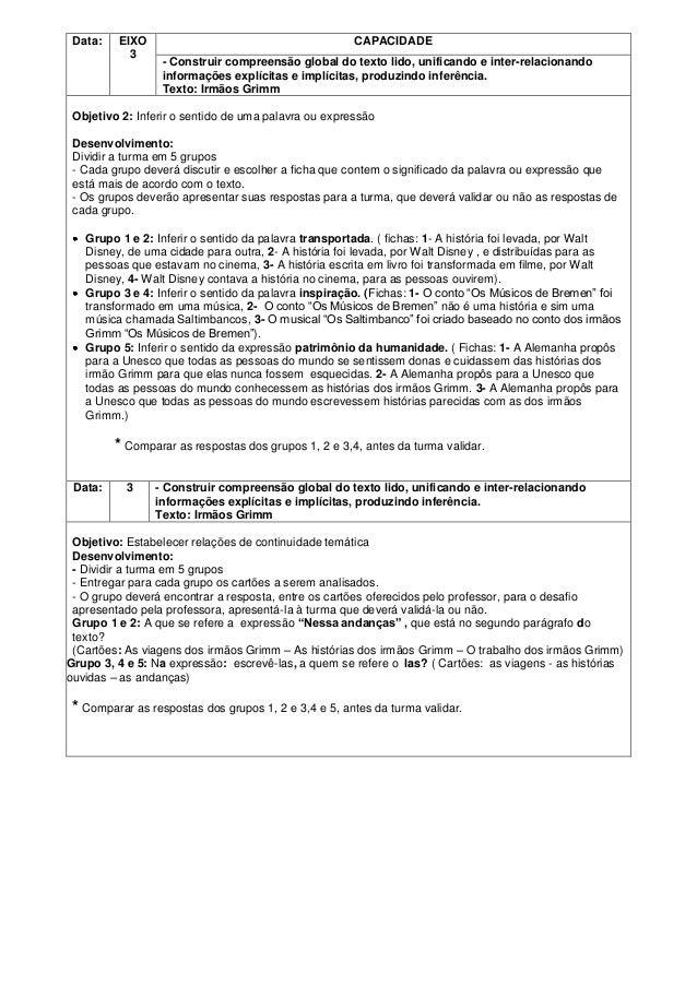 Data:   EIXO                                         CAPACIDADE           3                  - Construir compreensão globa...