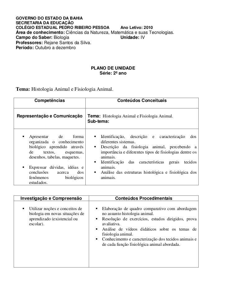 GOVERNO DO ESTADO DA BAHIASECRETARIA DA EDUCAÇÃOCOLÉGIO ESTADUAL PEDRO RIBEIRO PESSOA                      Ano Letivo: 201...