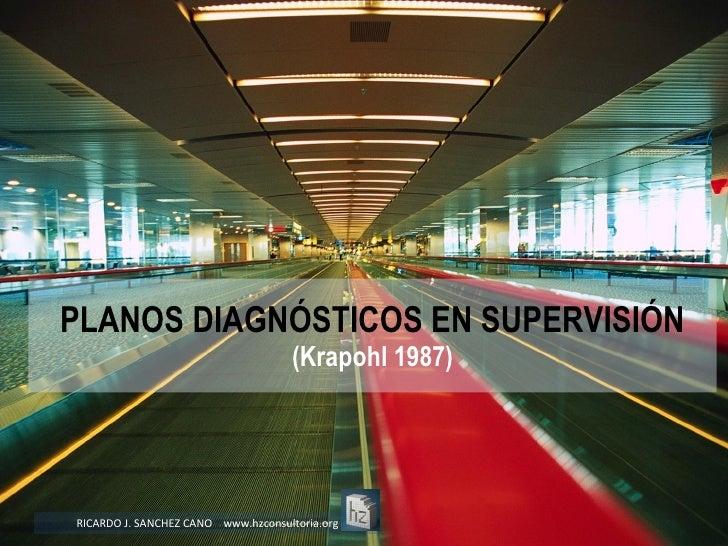 PLANOS DIAGNÓSTICOS EN SUPERVISIÓN (Krapohl 1987) RICARDO J. SANCHEZ CANO  www.hzconsultoria.org